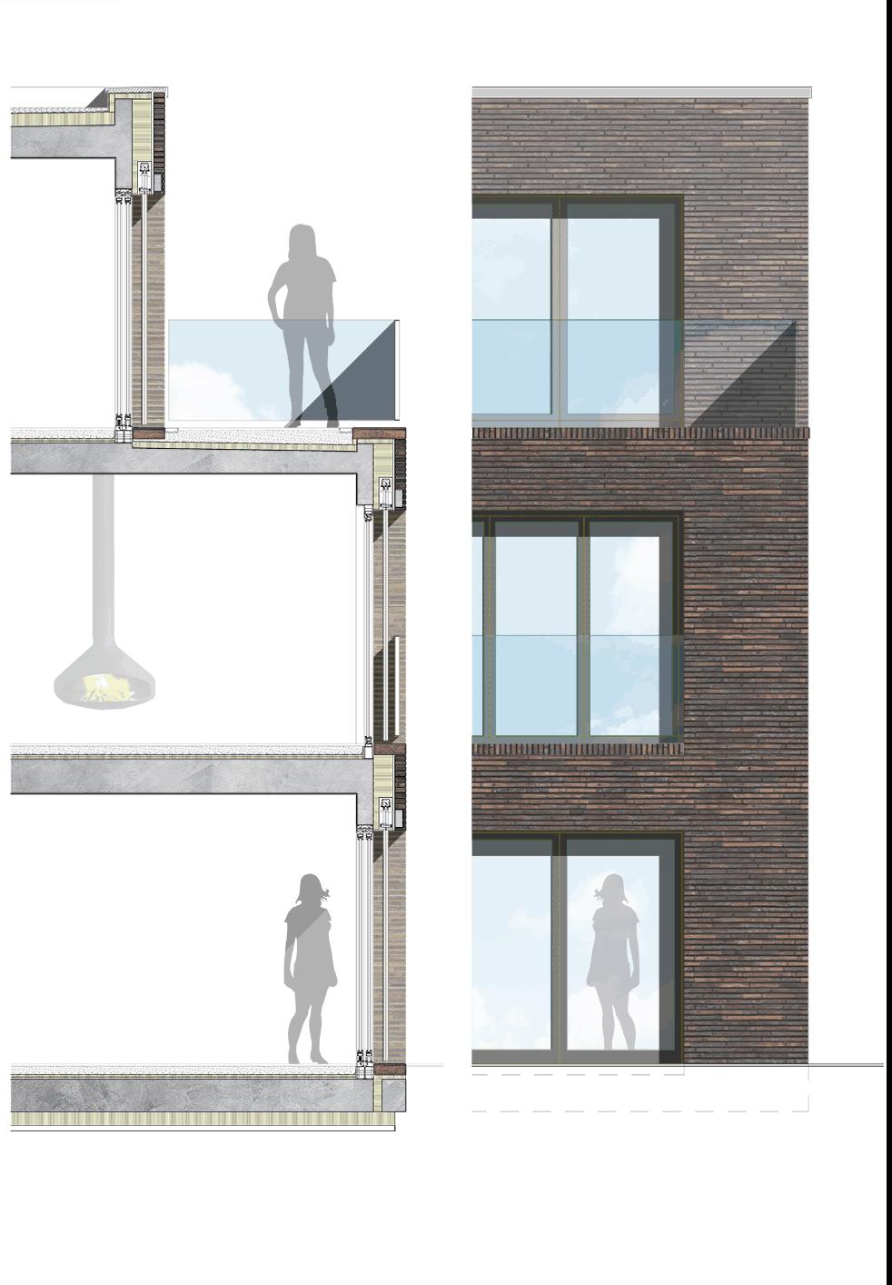 Fassadenschnitt-EFH-Kilchberg